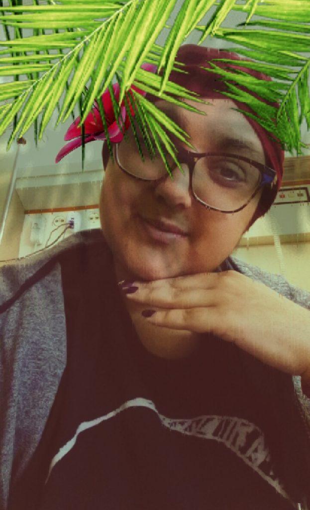 tropical selfie